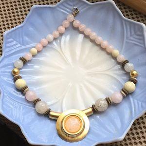 """Jewelry - Statement- Choker 18"""" Blush & Neutral colors"""